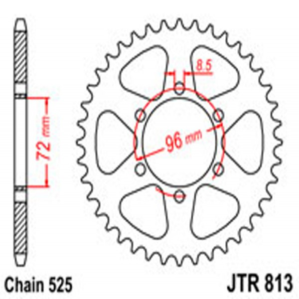 Jt Rear Sprockets R/w 813-40T Suz