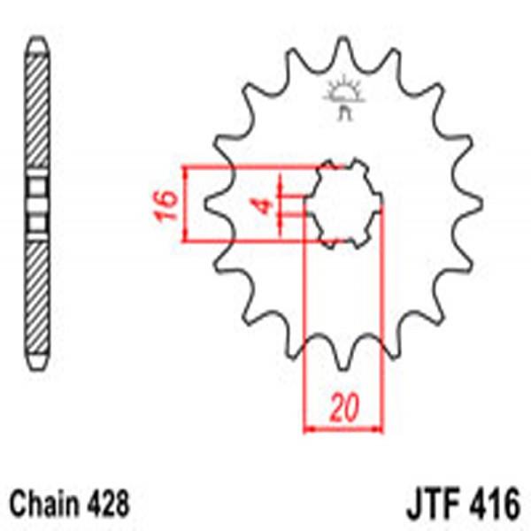 Jt Gear BOX Sprockets G/b 416-14T Suz/yam