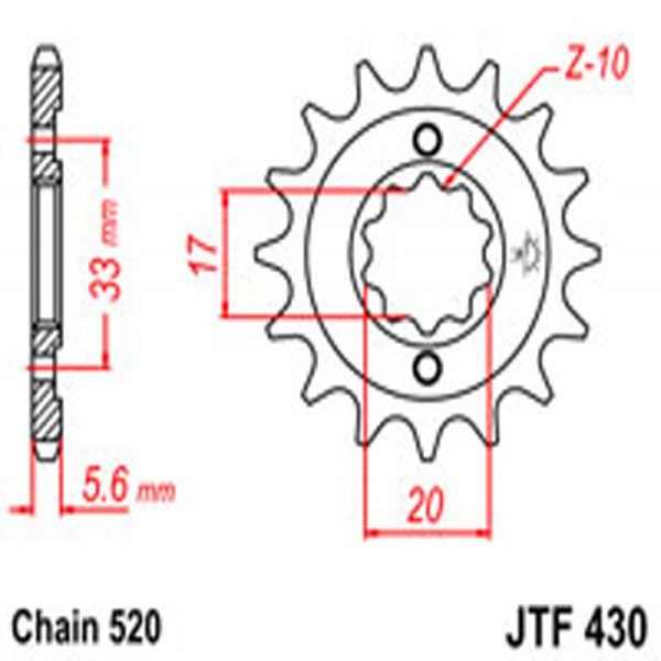 Jt Gear BOX Sprockets G/b 430-15T Suz