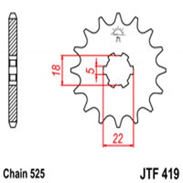 Jt Gear BOX Sprockets G/b 419-15T Suz