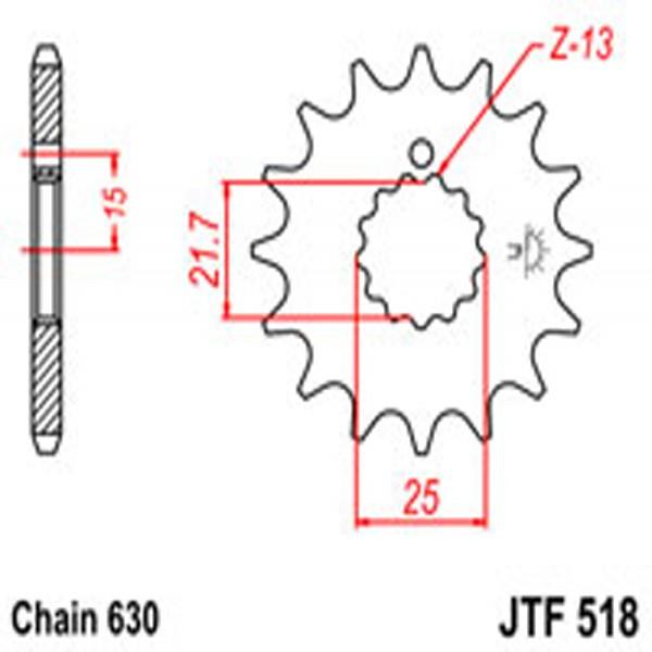 Jt Gear BOX Sprockets G/b 518-15T Suz/kaw
