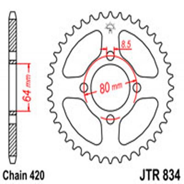 Jt Rear Sprockets R/w 834-36 Yam
