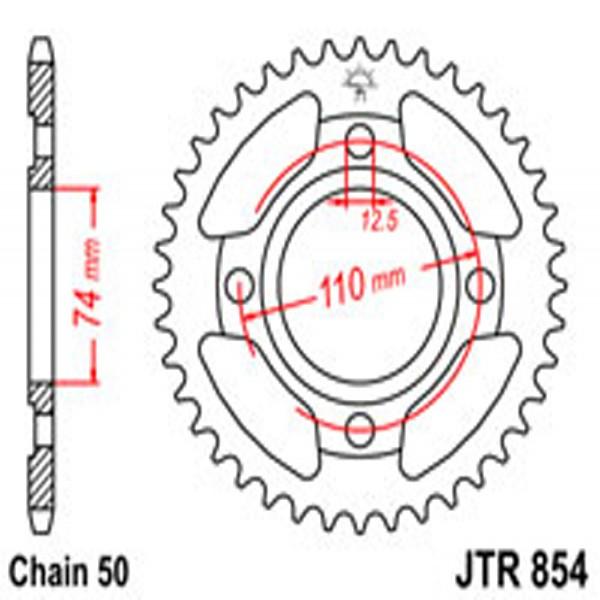 Jt Rear Sprockets R/w 854-43T Yam