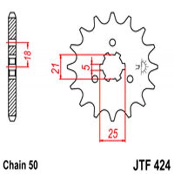Jt Gear BOX Sprockets G/b 424/567-17T Yam