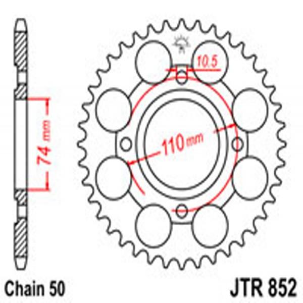 Jt Rear Sprockets R/w 852/0861-41T Yam