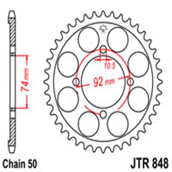 Jt Rear Sprockets R/w 848-39T Yam