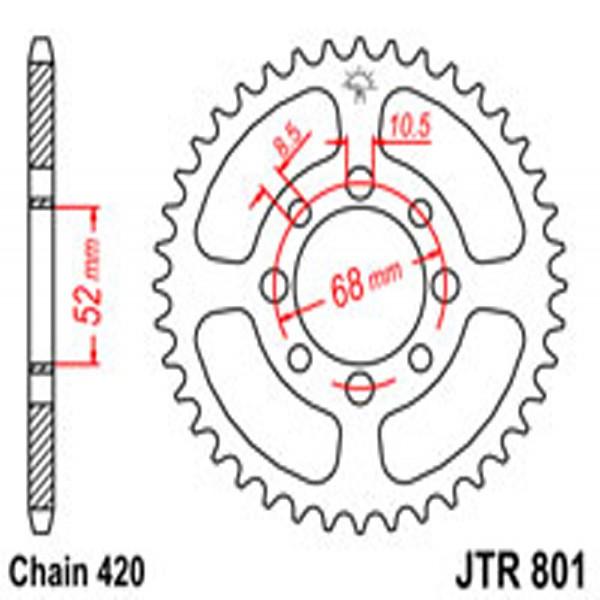 Jt Rear Sprockets R/w 801-45T Suz