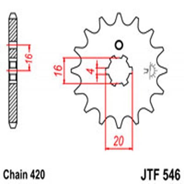 Jt Gear BOX Sprockets G/b 546/560-15T Yam