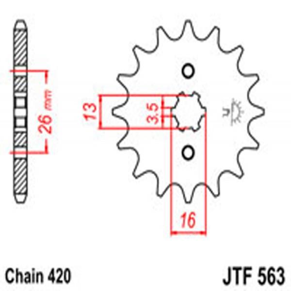 Jt Gear BOX Sprockets G/b 563/562-13T Suz