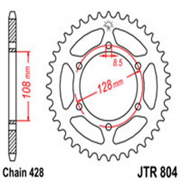 Jt Rear Sprockets R/w 804-45T Suz (902)
