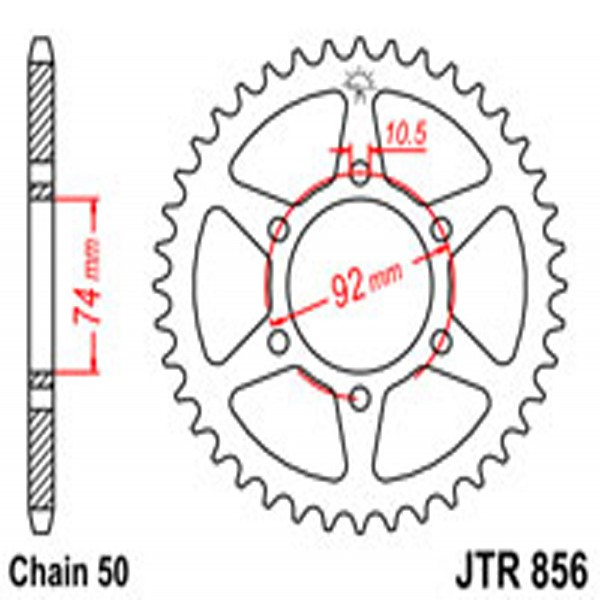 Jt Rear Sprockets R/w 856-45T Yam (852)