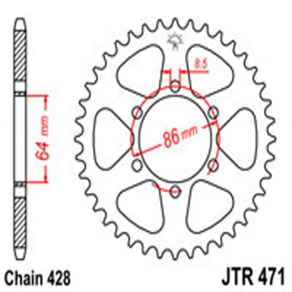 Jt Rear Sprockets R/w 471-50T Kaw