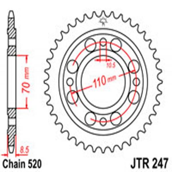 Jt Rear Sprockets R/w 247-36T Hon