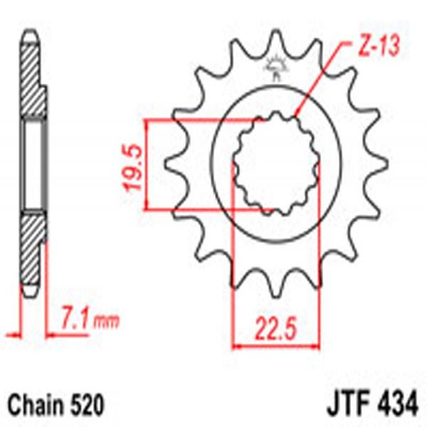 Jt Gear BOX Sprockets G/b 434-15T Suz