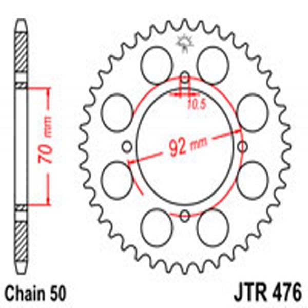 Jt Rear Sprockets R/w 476-40T Kaw