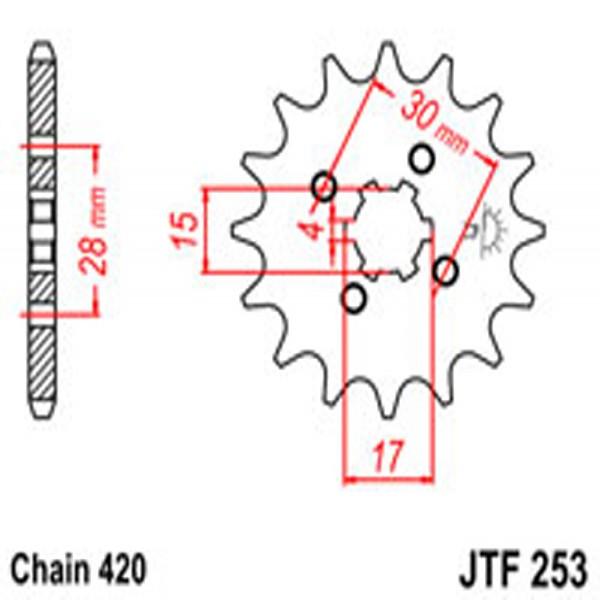 Jt Gear BOX Sprockets G/b 253/255/272-14T