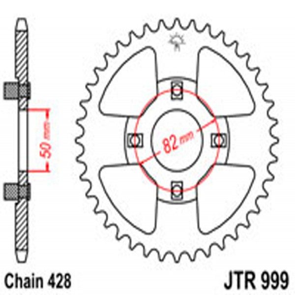 Jt Rear Sprockets R/w 999-42T Hon (153M)