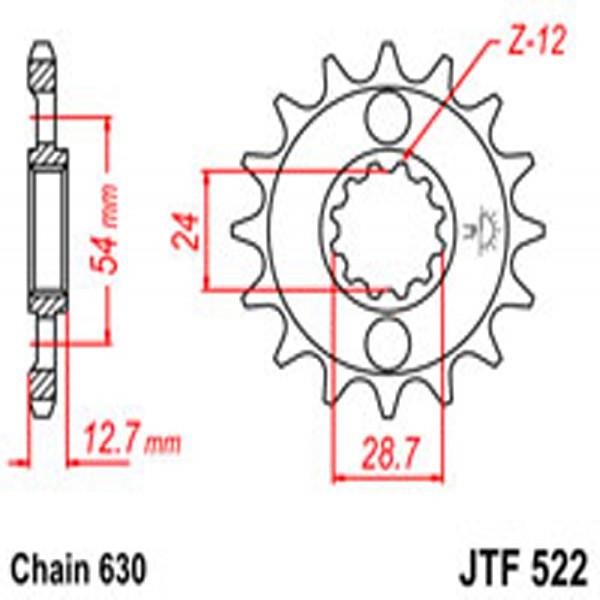 Jt Gear BOX Sprockets G/b 522-15T Kaw