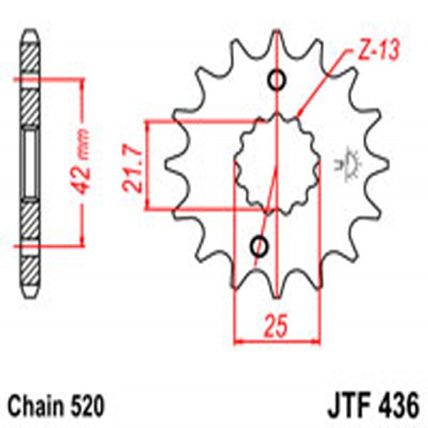 Jt Gear BOX Sprockets G/b 436/565-14T Suz/yam (438)