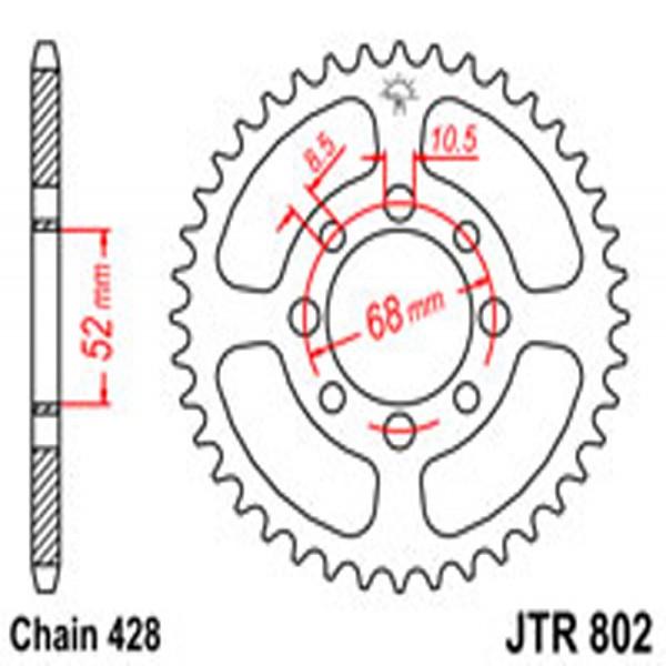 Jt Rear Sprockets R/w 802-40T Kaw