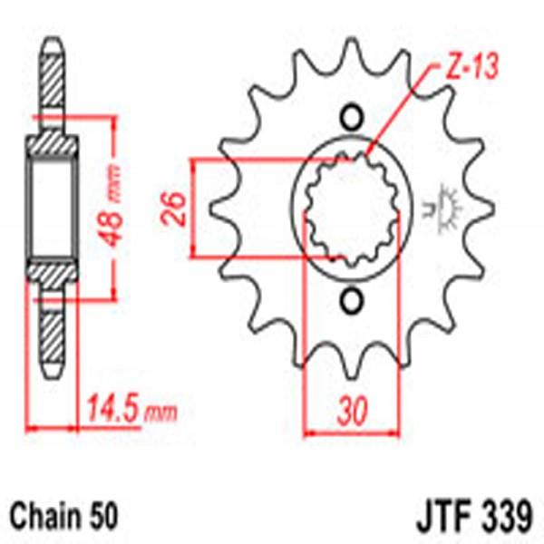 Jt Gear BOX Sprockets G/b 339-16T Hon