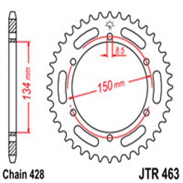 Jt Rear Sprockets R/w 463-48T Kaw