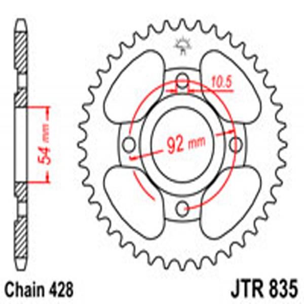 Jt Rear Sprockets R/w 835-45T Yam