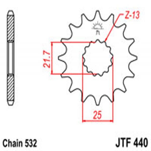 Jt Gear BOX Sprockets G/b 440-14T Suz (429)