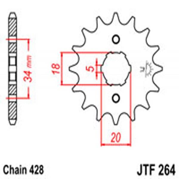 Jt Gear BOX Sprockets G/b 264-17T Yam