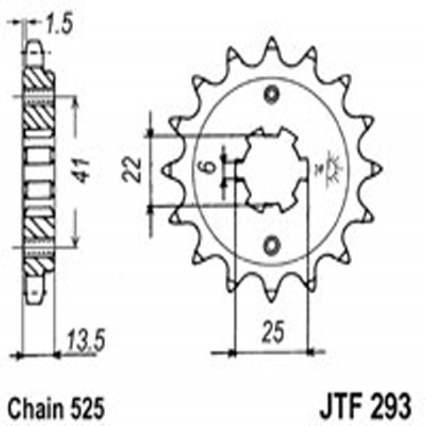 Jt Gear BOX Sprockets G/b 293-15T Hon