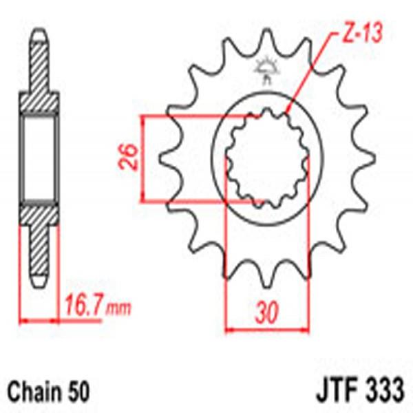 Jt Gear BOX Sprockets G/b 333/347-16T Hon