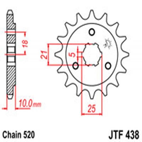 Jt Gear BOX Sprockets G/b 438-15T Suz (412)