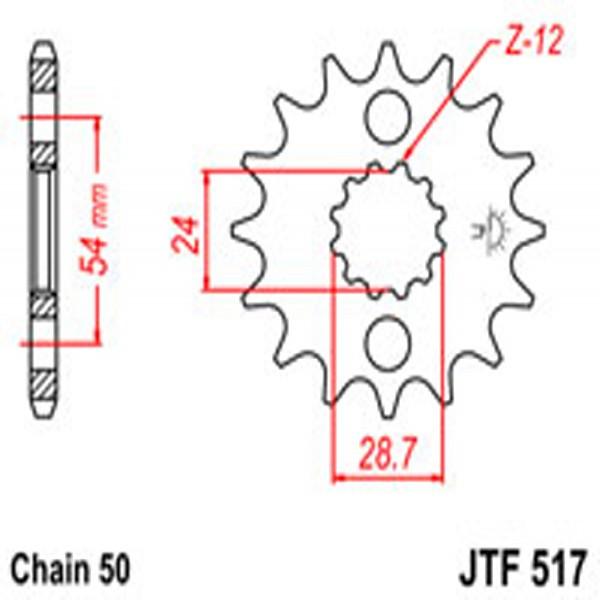 Jt Gear BOX Sprockets G/b 517-16T Kaw (526)