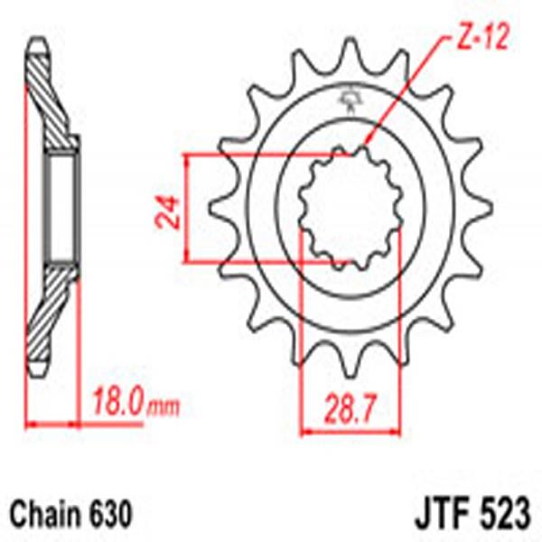 Jt Gear BOX Sprockets G/b 523-15T Kaw (524)