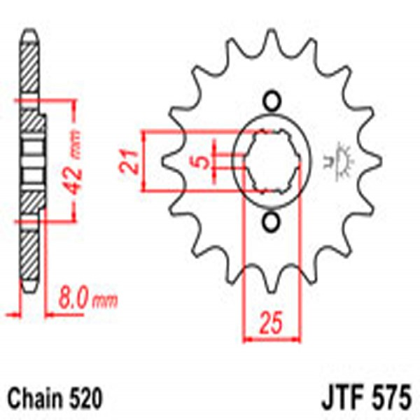 Jt Gear BOX Sprockets G/b 575-15T Yam
