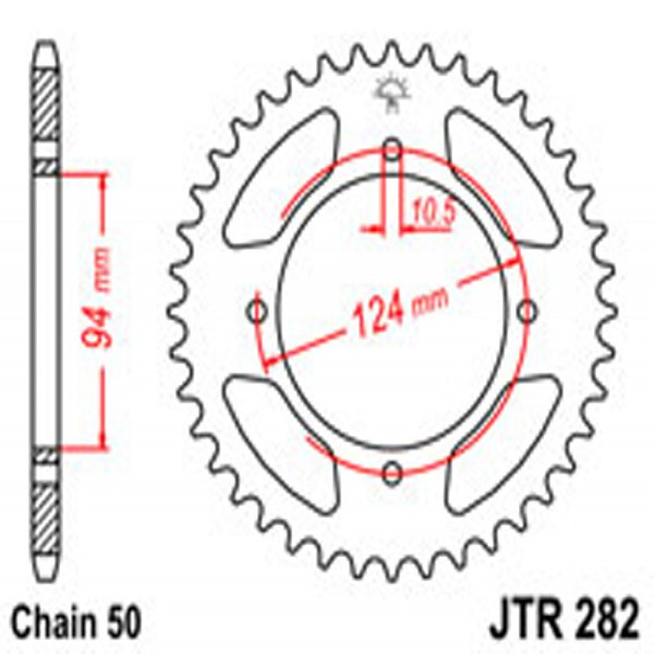 Jt Rear Sprockets R/w 282-34T Hon
