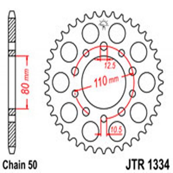 Jt Rear Sprockets R/w 1334/334/341-36 Hon Dual Combination