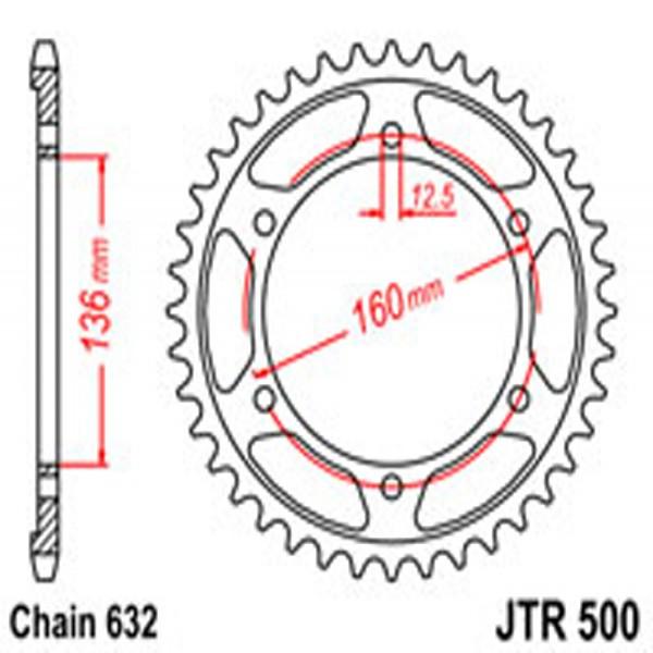 Jt Rear Sprockets R/w 500-40T Kaw