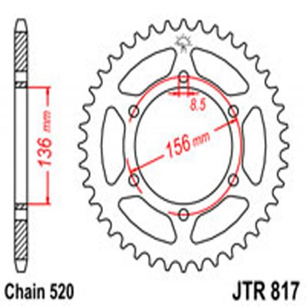 Jt Rear Sprockets R/w 817-46T Suz (830)