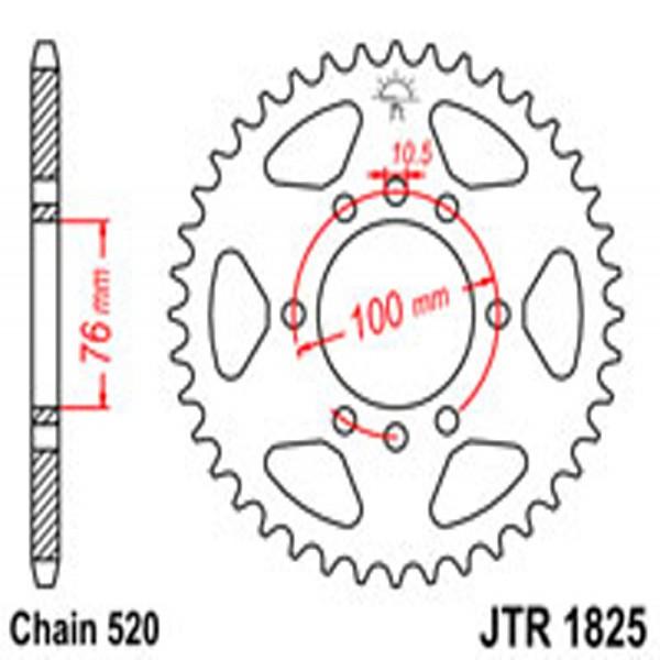 Jt Rear Sprockets R/w 1825/825-48T Suz (823)