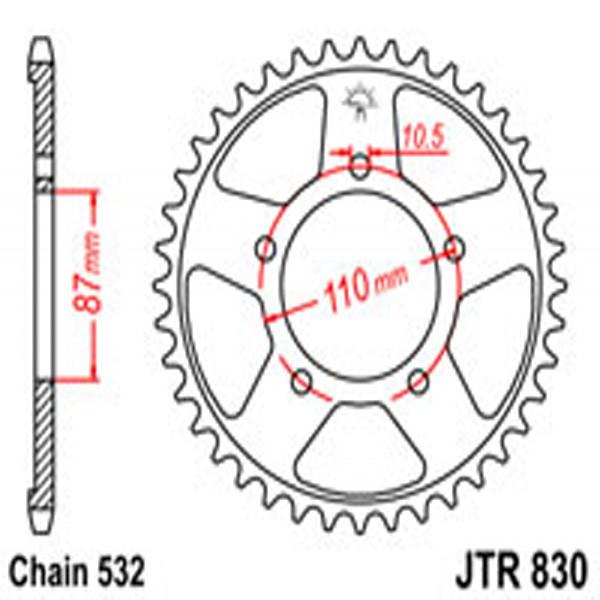 Jt Rear Sprockets R/w 830-46T Suz (821)