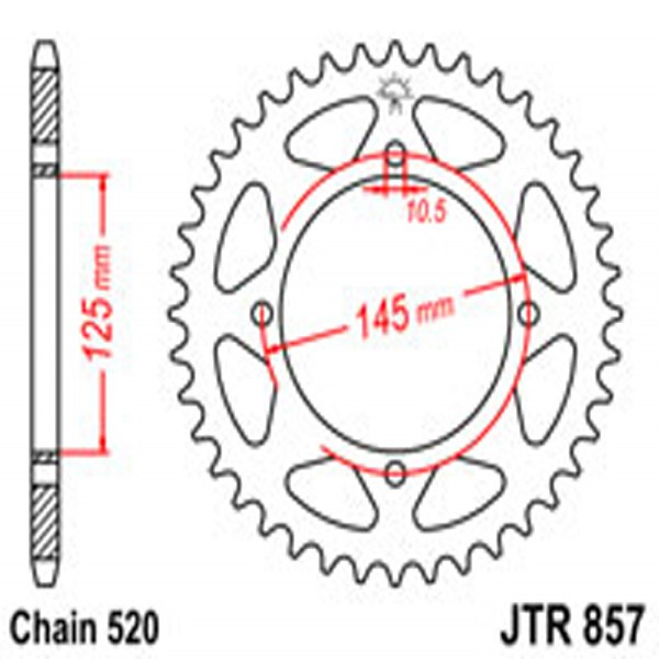 Jt Rear Sprockets R/w 857-40T Yam