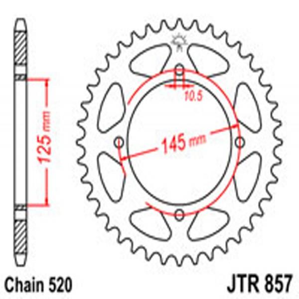 Jt Rear Sprockets R/w 857-45T Yam