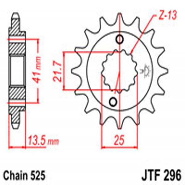 Jt Gear BOX Sprockets G/b 296/346-15T Hon