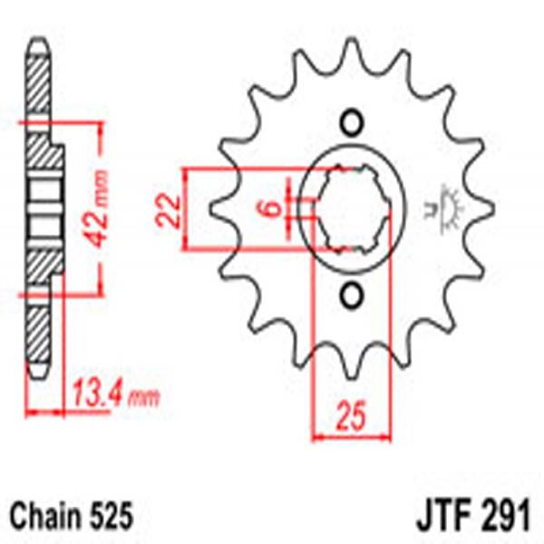 Jt Gear BOX Sprockets G/b 291-15T Hon