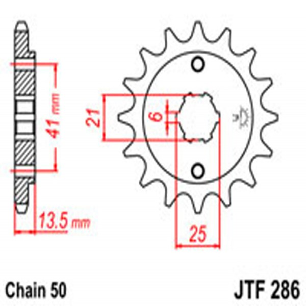 Jt Gear BOX Sprockets G/b 286-15T Hon (268)