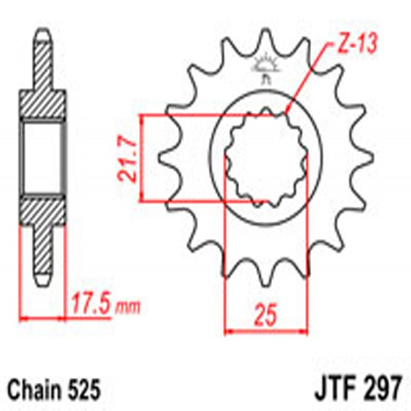Jt Gear BOX Sprockets G/b 297-15T Hon (2041)