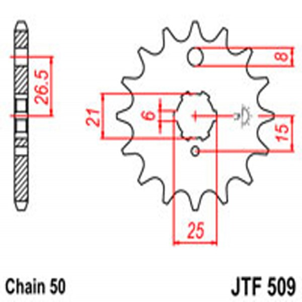 Jt Gear BOX Sprockets G/b 509-15T Kaw