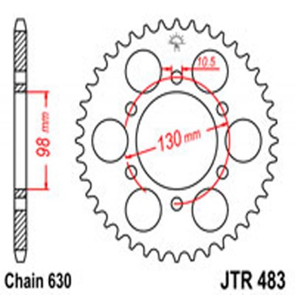 Jt Rear Sprockets R/w 483-35T Kaw.