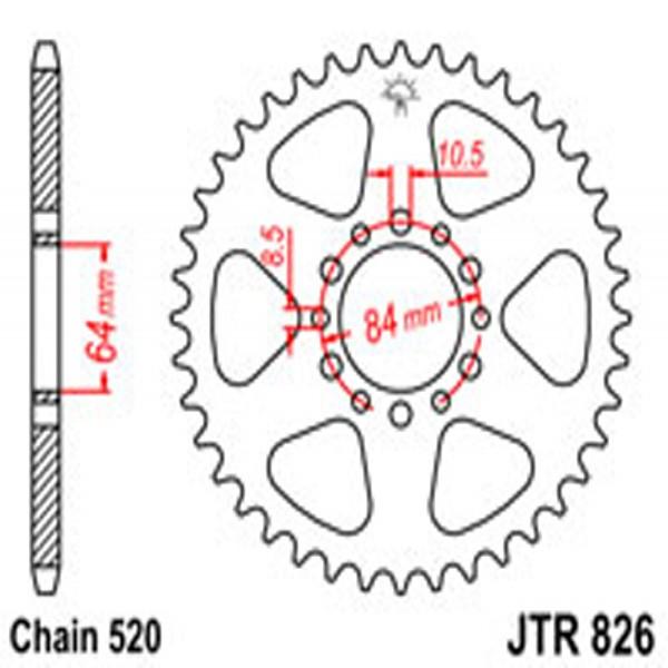 Jt Rear Sprockets R/w 826-47T Suz (811)